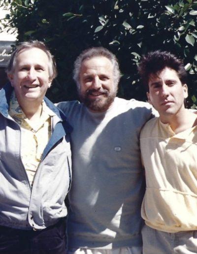 Joe Bartell with legendary songwriters Lou Stallman