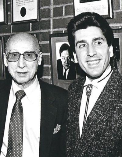 Joe Bartell with Sammy Cahn